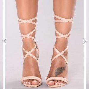 "Fashion Nova ""watch you do you"" heel"